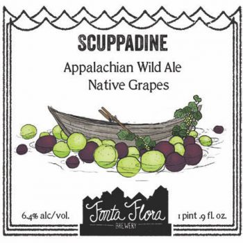 Scuppadine - Appalachian Wild Ale conditioned on local native Muscadine and Scuppernong grapes