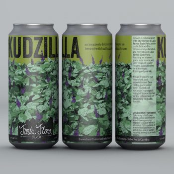 Kudzilla - An invasively delicious dry-hopped pale ale brewed with local kudzu flowers
