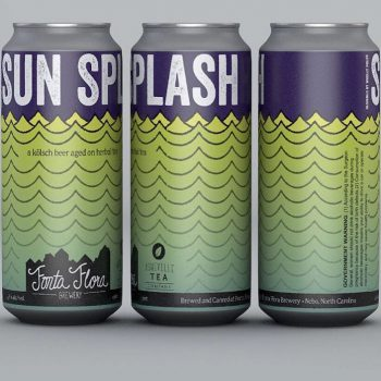 Sun Splash - Kolsch conditioned on custom herbal tea blend consisting of hibiscus flowers