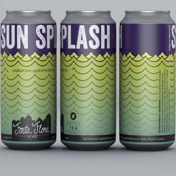Sun Splash - Kolsch conditioned on custom herbal tea blend consisting of hibiscus flowers