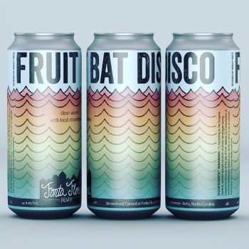 Fruit Bat Disco - Appalachian Clean Saison with local strawberries
